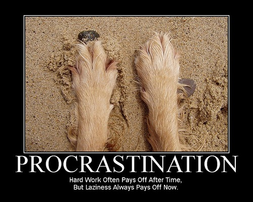 how to say procrastinate in chinese