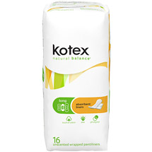 2 Packs of Kotex Natural Balance FREE at Walmart!