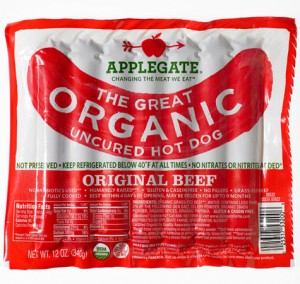 applegate farms all organic all beef hot dogs