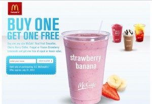 McDonald's Printable Coupon – Buy 1 McCafe Drink, Get 1 FREE
