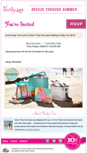 You're Invited to an Online Thirty One Gifts Party