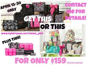 Almost $500 Worth of Thirty One Gifts Goodies for ONLY $159