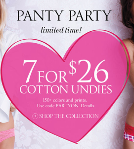 Deal at Victoria's Secret – 7 Pairs of Undies for Only $26!