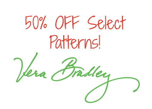 Vera Bradley Holiday Sale! 50% Off Select Patterns!