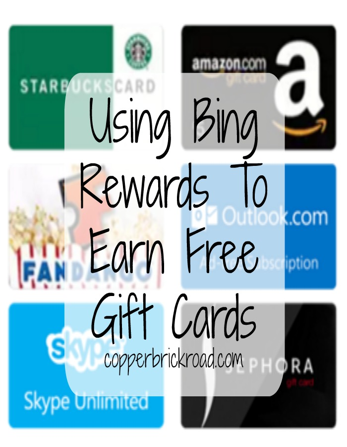 Using Bing Rewards To Earn Free Gift Cards
