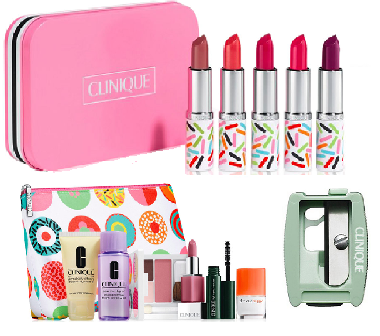 5-Piece Clinique Candy Store Lipstick Set + 7-Piece Clinique Gift Set all for $29.50