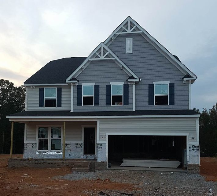 N Home Elevation : Week six of construction for our ryan homes rome in
