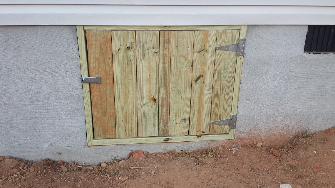 ryan homes crawl space door